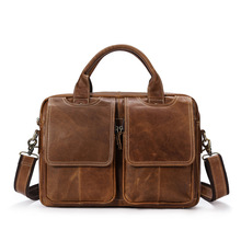 Genuine Leather Bag Men Handbag Male Briefcase Laptop Bag Businss Men Zip Shoulder Messenger Bag Crossbody Bags For Men