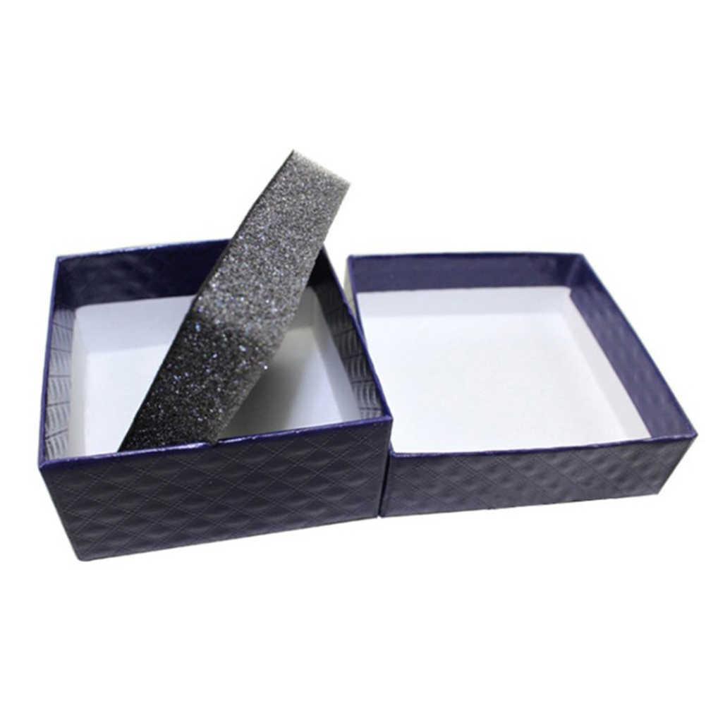 2019 حلقة مربعة قلادة القرط سوار الزفاف تاريخ المجوهرات هدية صندوق دقيق بلون صندوق مجوهرات التعبئة والتغليف بالجملة