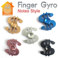 Minitudou Metal Hand Tri Spinner FingerMusical Note Style Anti Stress Fidget Toys For Kids Autism ADHD