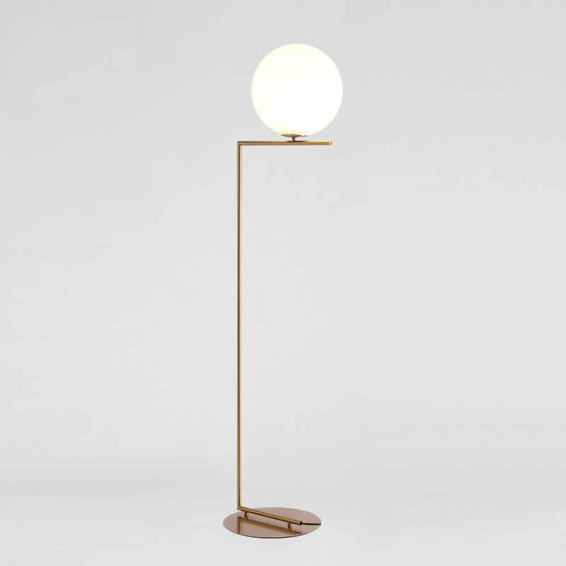 Design nórdico Pós-moderna Ouro Branco De Metal LEVOU Candeeiro de pé Alto Stand Luz Com Mesa para Sala de estar Salão de Beleza Gratuito grátis