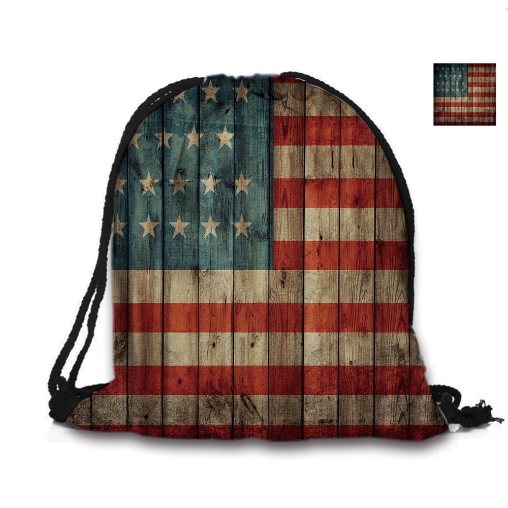 Custom Bag 3D ispis vrpca vreća američka zastava ruksak ispisuje - Ruksaci - Foto 2