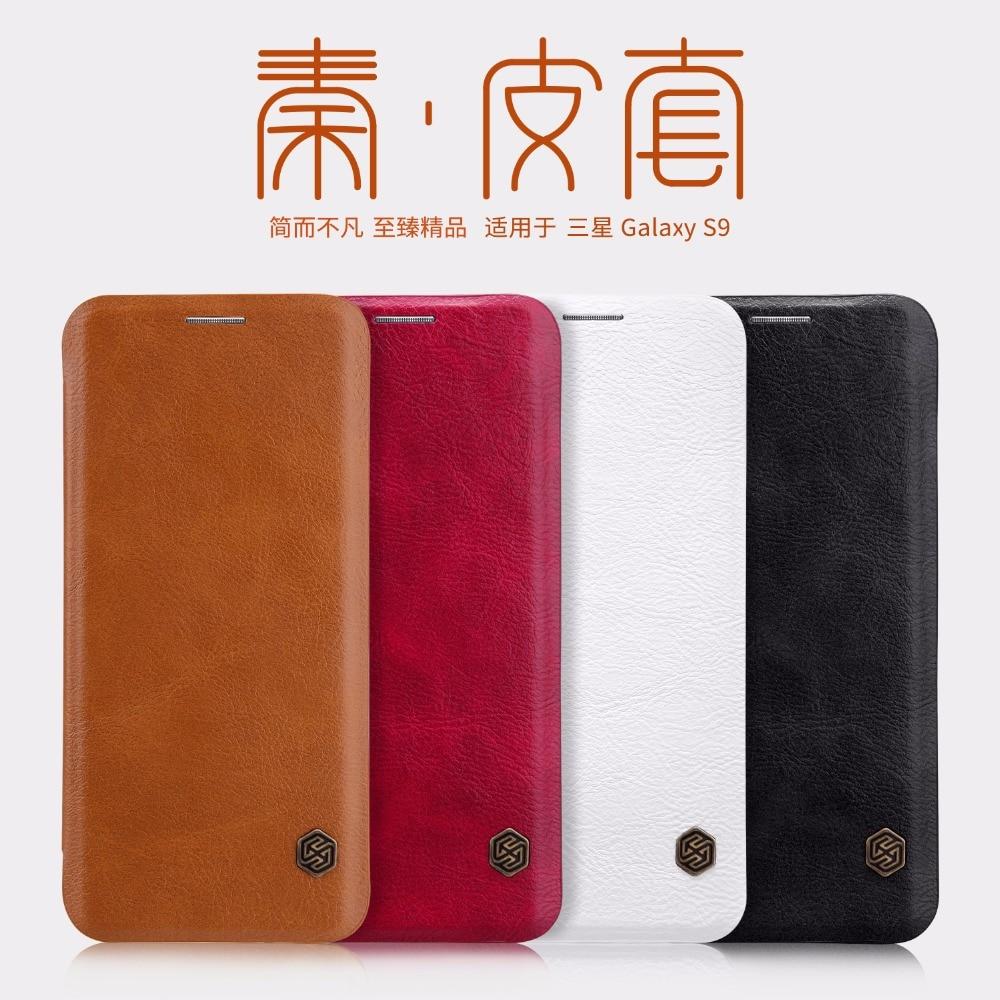 Flip Case Samsung Note 10 9 8 S8 S9 S10 S10e S20 PLus NILLKIN Qin - მობილური ტელეფონი ნაწილები და აქსესუარები - ფოტო 3