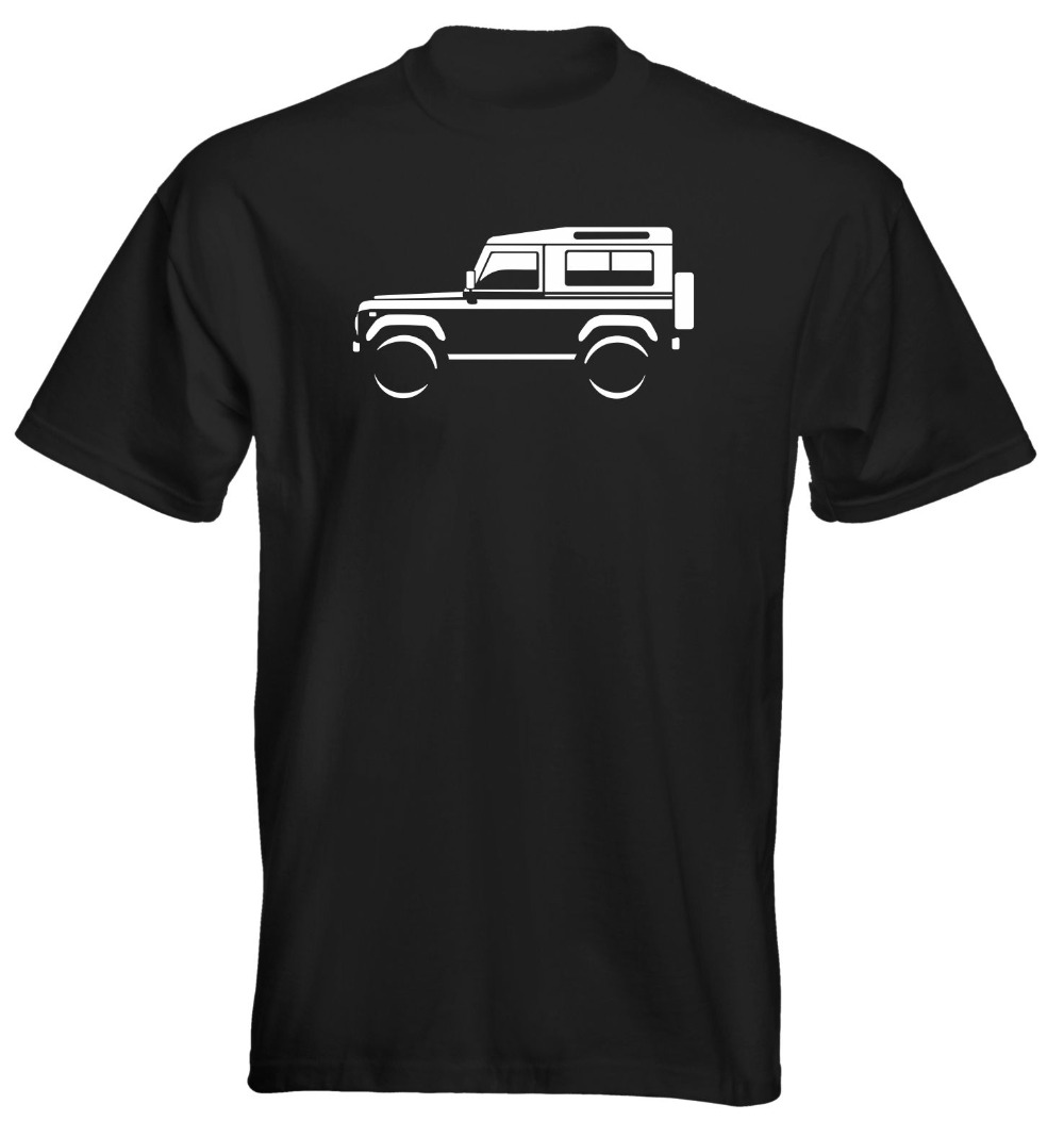 Fashion Funny Tops Tees Mens Premium T-Shirt Land Rover Defender 90 Colour Options UK Seller Novelty Tee Free Shipping ...