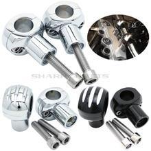 Motorcycle Edge Cut Handle Bar Clamp Handlebar Riser For Yamaha DragStar DS V STAR XVS 400 650 1100 1300 DS1100 XVS1100 XVS1300