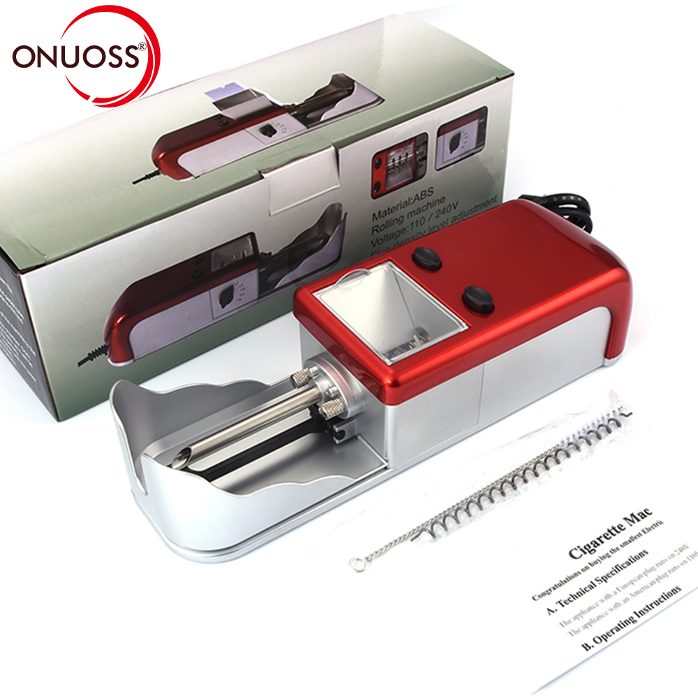 ONUOSS EU 6.5MM and 8MM Electric Automatic Cigarette Rolling Machine Tobacco Roller Maker Inject Tube Rolling Machine JL-003A