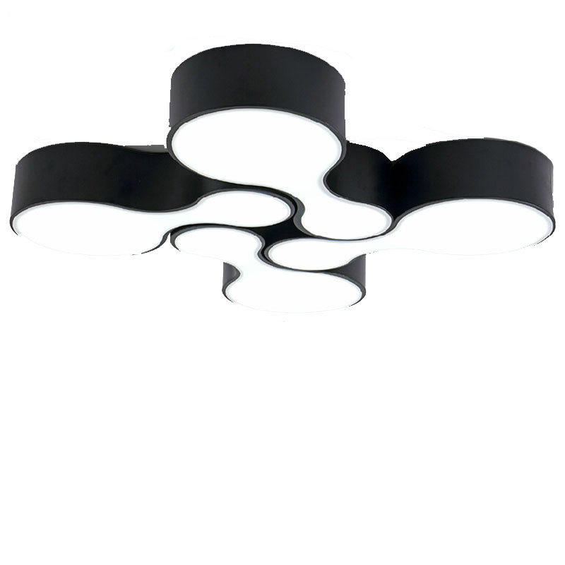 SinFull Modern 12w Acrylic living Room bowling Led Ceiling Lights Bedroom black white ceiling lamp indoor Lighting lustre black or white rectangle living room bedroom modern led ceiling lights white color square rings study room ceiling lamp fixtures