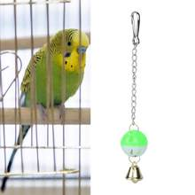Parrot Hanging Swing Bell Ball Climb Bite Chew Toys Pet Bird Parakeet Budgie Toy(China)