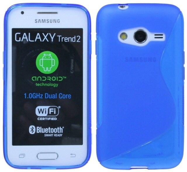 Pour Samsung Ace 4 Lite G313ML Cas Givre TPU Prise En Main Sure Protection De