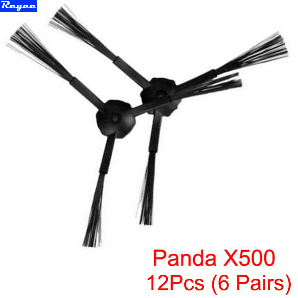 12Pcs / Lot (6 Pairs) 3-Arm Side Brush Replacement For Panda X500 ECOVACS CR120 Vacuum Cleaner Accessories Brand New Free Post 3 arm side brush