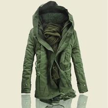 YASUGUOJI new 2019 mens thicken warm winter jackets and coats military hooded jacket men cotton padded mens parka jacket