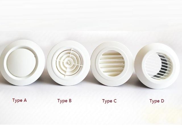 """8 """"(200mm) Rodada Plástico ABS Grade de Ventilação de Ar Do Difusor Do Teto"""