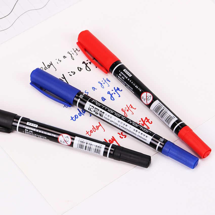 3 個マーカーペン良い防水インク薄型先原油先ブラック新ポータブル罰金カラーマーカーペン 3 色ミックス