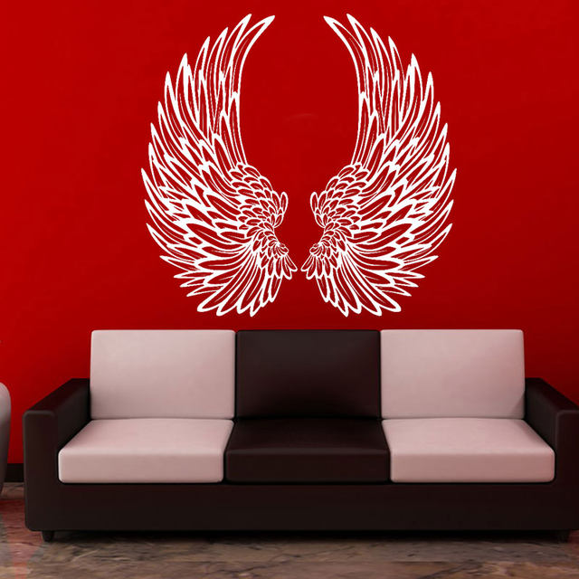 Online Shop Design Angel Wings Wall Sticker Home Decor Living Room ...