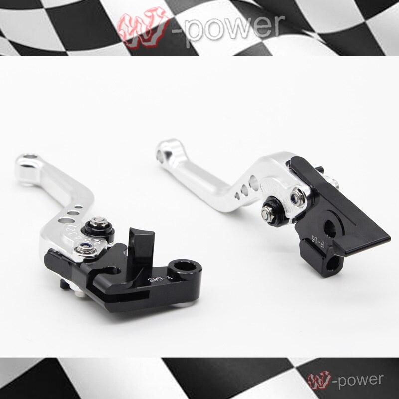 ФОТО For HONDA CB400 VTEC CB750 CB400SF motorcycle accessories CNC billet aluminum short brake clutch lever silver