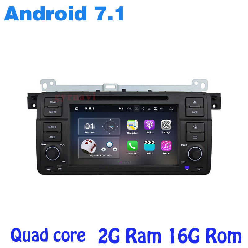 for BMW E46 M3 3 series 320 318 Android 7 1 Quad core Car radio font
