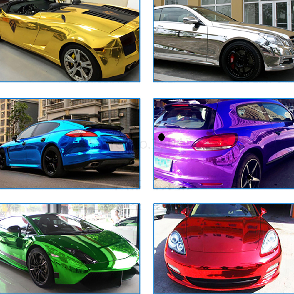 Image 5 - 10cmx100cm Chrome Mirror Vinyl Wrap Film Car Sticker Decal DIY Car Bike Motor Body Cover Wrapping Film Automobiles Accessories-in Car Stickers from Automobiles & Motorcycles