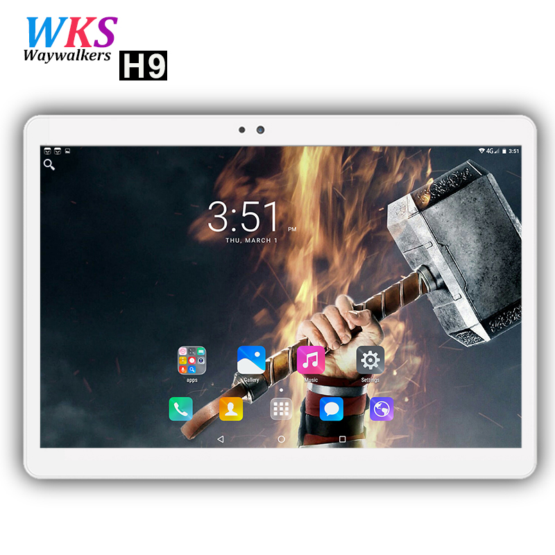 Free shipping 10 inch tablet PC 3G/4G LTE phone Android 7.0 octa core 4GB+64GB 1920*1200 IPS Dual SIM WIFI smart tablets 10.1 10 lenovo vibe c2 k10a40 dual sim 8gb lte black