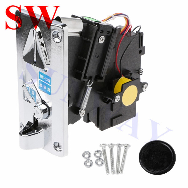1PCS factory price TW 130F Coin Accepter CPU Multi Coin Acceptors Comparison Coin Selector Side Coin Machine Selector