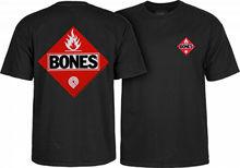 Powell Peralta Flammable Flame T-Shirt Black Ripper Bones OG Skateboard L XL 2XL 3xl  Fashion Men T Shirts Round Neck