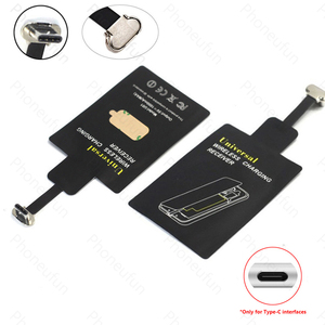 Upgraded Qi Wireless Charging USB C Receiver Chip For Samsung Galaxy A5/A3/A7/2017 For Xiaomi Mi 9 Huawei P30 P20 Honor 20 Lite(China)