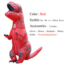 Jurassic World Mascot Child Inflatable Costume Dinosaur Cosplay T Rex