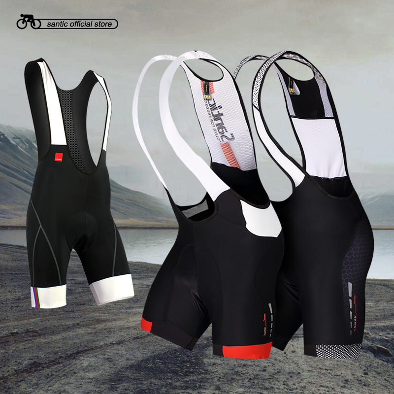 Santic Men Cycling Padded Bib Shorts MTB Shorts Breathable Mesh Mountain Road Bicycle Bike Bib Shorts Ciclismo 5031/5049/5050/95 santic men s professional cycling bib shorts coolmax padded man s bicycle bib shorts 3d braces pants bike tights s 3xl
