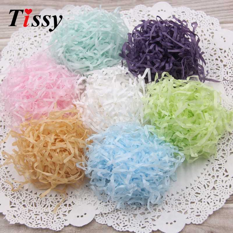 100g/bag DIY Paper Raffia Shredded Crinkle  Paper Confetti Gifts/Box Filling Material Birthday/Wedding Party Decoration Supplies
