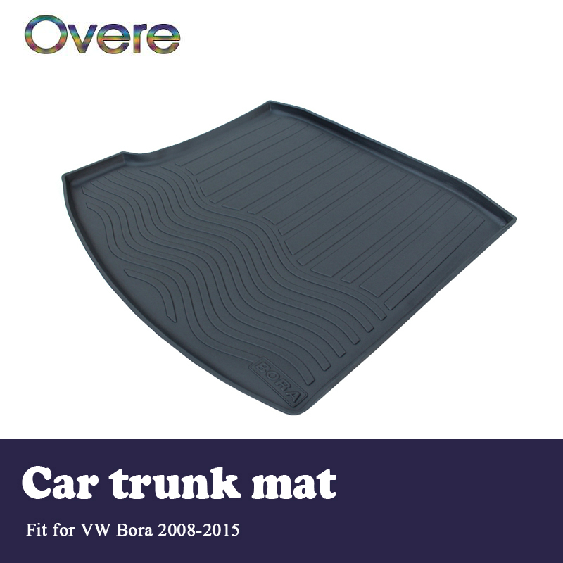 Overe 1Set Car Cargo rear trunk mat For VW Bora 2008 2009 2010 2011 2012 2013 2014 2015 Boot Liner Anti-slip mat Accessories areyourshop auto cargo mat boot liner tray rear trunk sticker dog pet covers for kia soul 2009 2010 2013 car covers