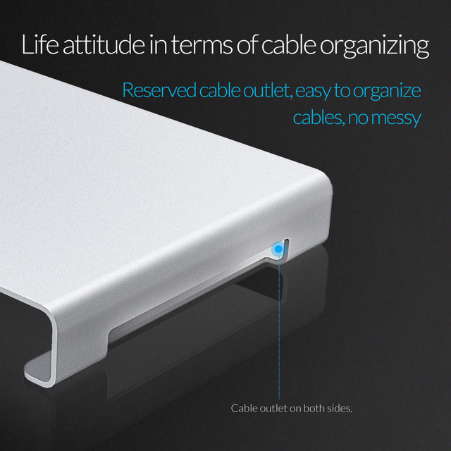 ORICO Aluminum Laptop Stand Desk Dock Holder Bracket for Apple iMac/Tablet/ MacBook Pro/PC/Notebook Base Portable Computer Stand 2