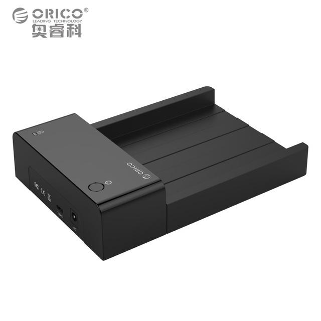 Tipo-c para usb3.1 6518c3 orico 2.5 ''/3.5'' herramienta libre estación de acoplamiento sata hdd y ssd gabinete de almacenamiento externo (sin disco duro)