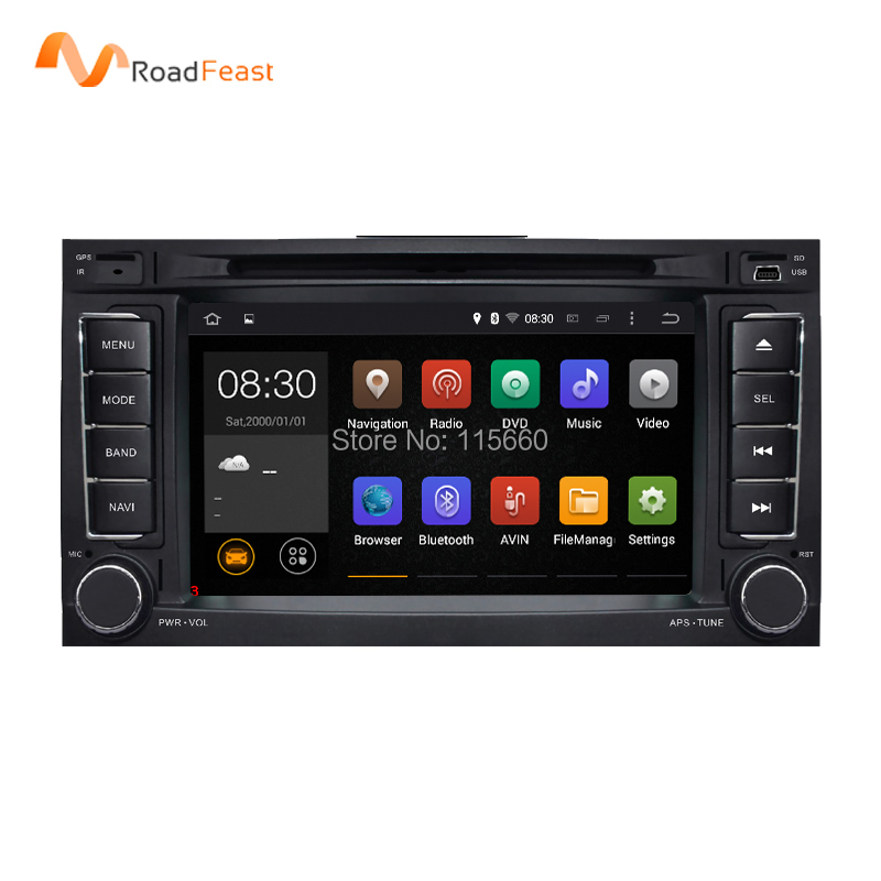 1024X600 Android 5.1.1 Quad Core Car DVD GPS Radio for Volkswagen VW Touareg T5 Transporter Multivan 2004-2011 Stereo system