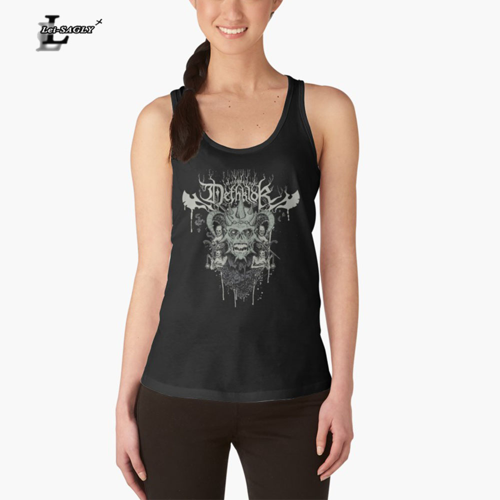 Lei-SAGLY Sexy Tank Top Women T-Shirt black Vest Tops Horror Devil 3D Print Camisole Polyester Sleeveless Tees Free Shipping