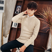 2019 Autumn men Casual wool sweaters Man Round Neck Rendering Crocheted Wire Knitting Unlined Upper Garment Fashion Dress Tide