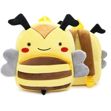 Cartoon Animal Plush Backpack Cute Bee Children School Bags Infant Baby Peluche Toy Gifts