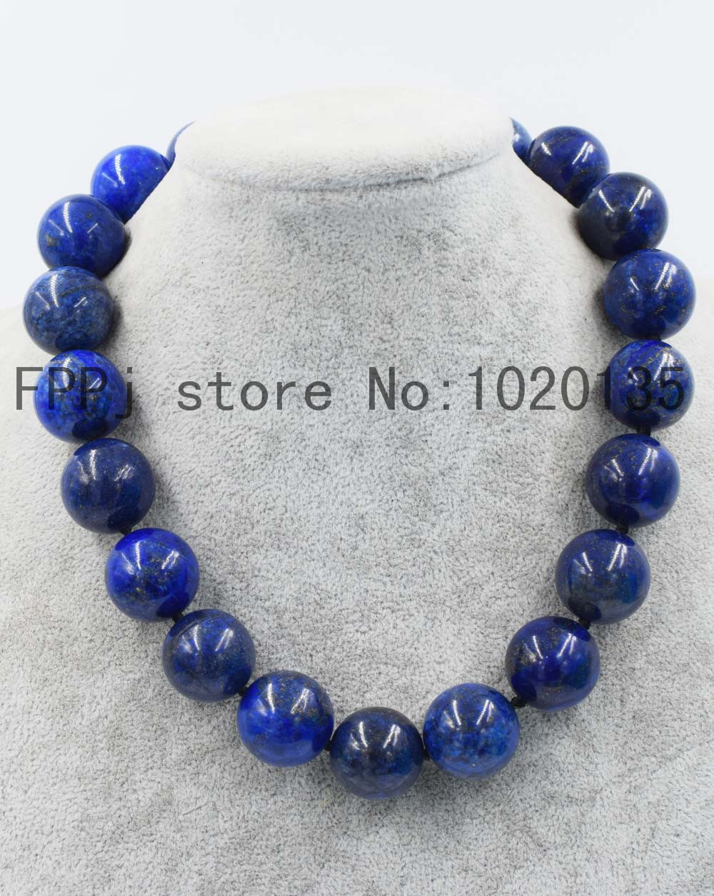 wow! lapis lazuli round blue 10- 20mm necklace  18inch wholesale beads  FPPJ nature