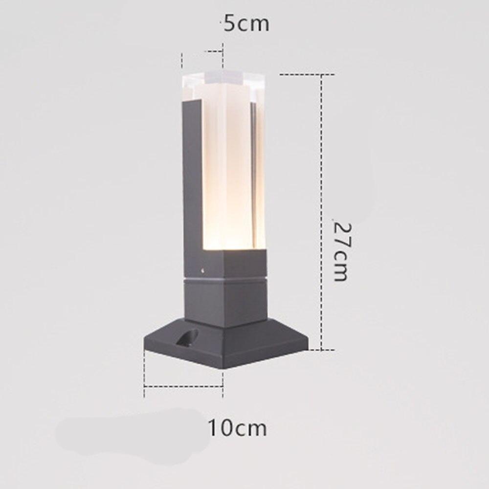 BECOSTAR-Aluminum-Gray-Black-Outdoor-Waterproof-LED-Lawn-Lighting-LED-Bollard-Lamp-Height-27cm-or-40cm (4)