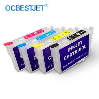 4 kolory zestaw T1711-T1714 kartridż do drukarki do ponownego napełnienia kartridż do Epson XP-103 XP-203 XP-207 XP-33 XP-303 XP-306 XP-313 XP-406 XP-413 drukarki tanie i dobre opinie OCBESTJET CN (pochodzenie) Pusty Kompatybilny Wkład atramentowy Ink Cartridge Refillable Ink Cartridge T1711 T1712 T1713 T1714