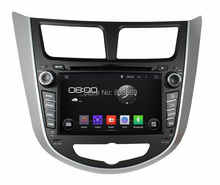1024*600 Android 5.1 car dvd gps for Hyundai Verna Accent Solaris 2011 2012 With Radio /RDS Bluetooth 3G/WIFI IPOD TV USB AUX IN