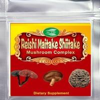 500gram Mushroom Complex (Maitake+Reishi+Shiitake) 50% Polysaccharide Extract Powder Free shipping