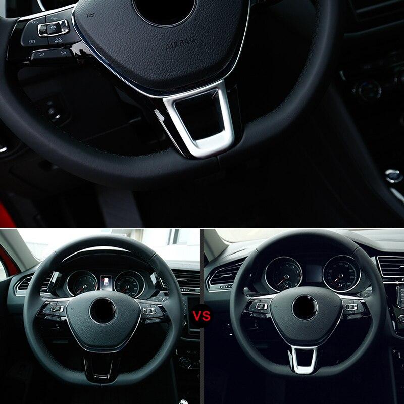 Для Фольксваген транспортер T6 2017 2018 автомобилей внутренняя крышка рулевого колеса отделкой Стикеры ABS Матовый автомобилей Стайлинг авто ак...