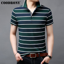COODRONY Soft Cotton T Shirt Men Fashion Classic Striped Short Sleeve T-Shirt Summer Streetwear Casual Mens T-Shirts S95062