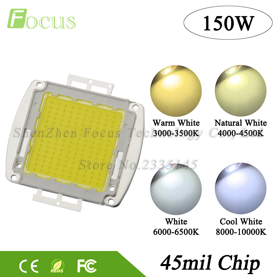 1Pcs High Power LED Chip 150W LED Beads Natural Cool Warm White SMD LED COB Bulb 32-34V For 150 Watt Floodlight SpotLight 2pcs lot us cree cxa 3070 beads 117w high power led chip 2700 3000k 5000 6500k pure white warm white