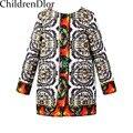 W. L. MONZÓN Niñas Abrigos de Invierno y Chaquetas de Los Niños ropa de Abrigo y Abrigos Con Digital Patrón de Los Niños de Invierno Chaquetas abrigos para Niñas