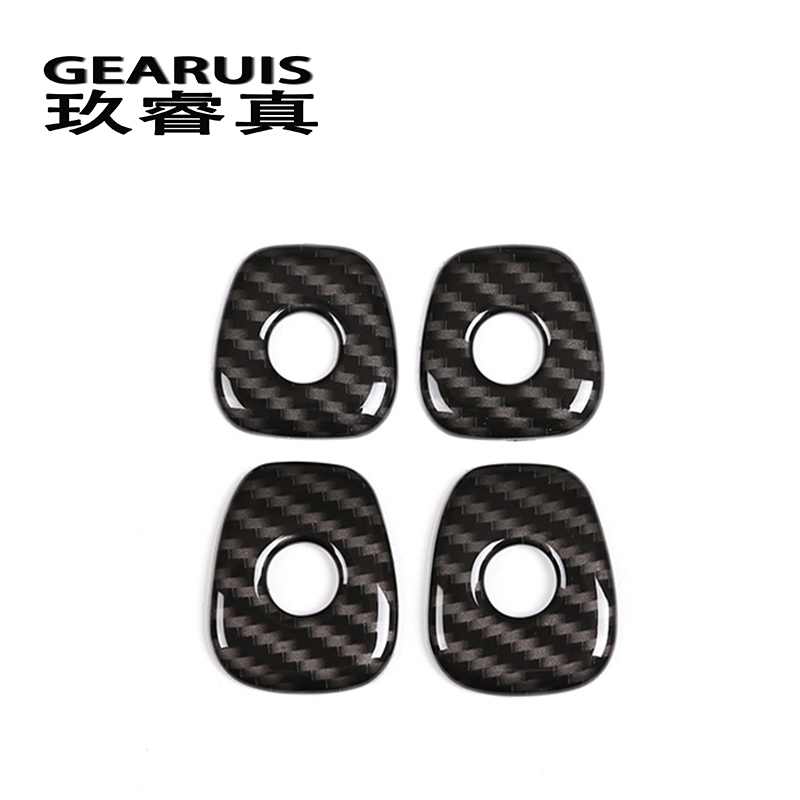 Car Styling Door Lock Ring decoration Stickers Covers Trim For <font><b>BMW</b></font> <font><b>x3</b></font> G01 X4 <font><b>2018</b></font> Auto Interior <font><b>Accessories</b></font> carbon fiber Colour image