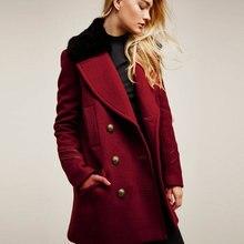 39bc29e056 2018 Mulheres Casaco de Inverno Pesado Casaco Cardigan Botão Sobretudo  Jaquetas Peacoat Casacos De Lã Plus Size Outerwear