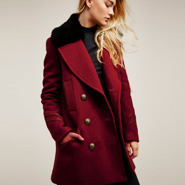 2f558ad17a8 2018 Winter Coat Women Heavyweight Peacoat Jacket Cardigan Button Overcoat  Jackets Wool Coats Plus Size Outerwear