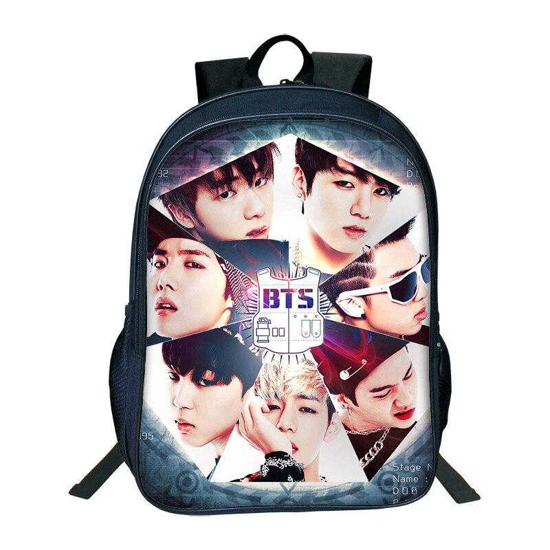 New Fashion KPOP BTS Backpacks For Boys Girls School Bags High Capacity Backpacks For Te ...