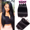 Lace Frontal With Bundles 8A Brazilian Virgin Hair With Frontal Closure Bundle Ear To Ear Lace Frontal Closure With Bundles