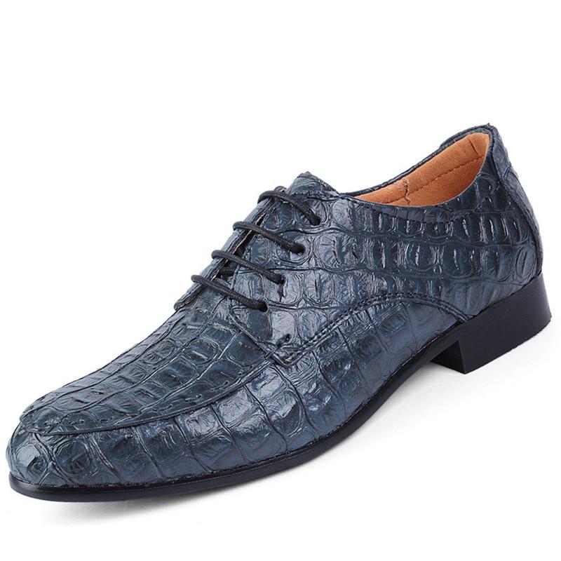 Luxury Leather Men s Shoes Crocodile Shoes Large Size 45 50 Fashion Man Lace Up Footwear