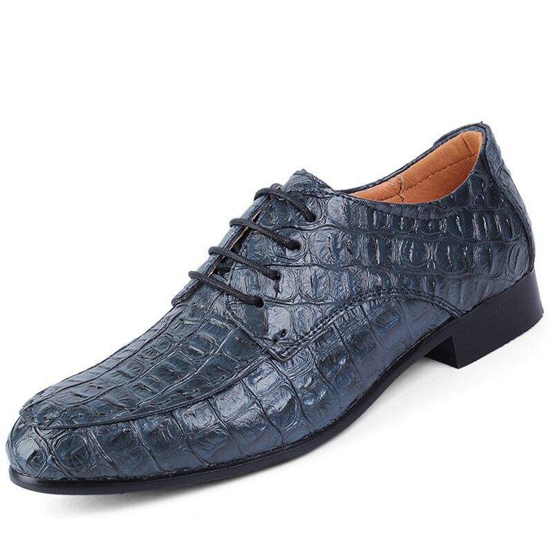 Zapatos de cuero de lujo para Hombre Zapatos de cocodrilo talla grande 45 50 Moda hombre Zapatos de encaje ropa de negocios  zapatos-in Zapatos informales de hombre from zapatos on AliExpress - 11.11_Double 11_Singles' Day 1